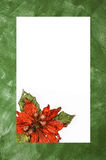 Green christmas classic card Royalty Free Stock Photo
