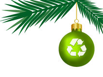 Green Christmas Concept (Vector) Royalty Free Stock Photography