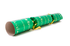 Green Christmas Cracker Stock Photography