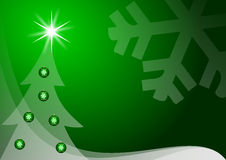 Green christmas decoration Royalty Free Stock Images