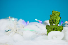 Green christmas decoration. Green bear decoration for christmas Royalty Free Stock Photography