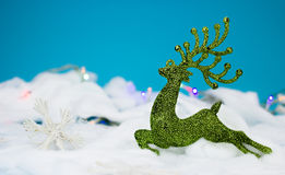 Green christmas decoration. Green dear decoration for christmas Stock Images