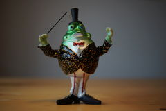 Green Christmas decoration Frog Royalty Free Stock Photo
