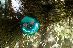 Green Christmas decoration Stock Photos