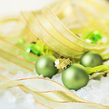 Green christmas decorations Stock Images