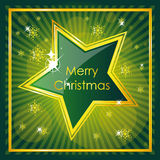 Green christmas design Stock Images