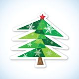 Green Christmas fir tree. Green Christmas fir tree  on white background. Vector illustration Stock Photography