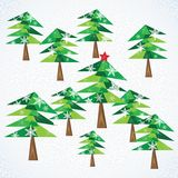 Green Christmas fir trees background. Royalty Free Stock Photos