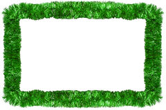 Green Christmas garland Royalty Free Stock Photo
