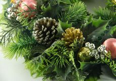 Green christmas garland royalty free stock image