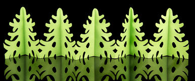 Green Christmas garland Royalty Free Stock Photos