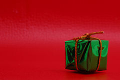 Green Christmas Gift Stock Image