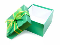 Green Christmas Gift Box Royalty Free Stock Photography