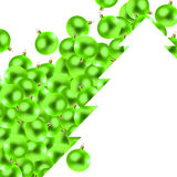 Green christmas glass-balls Stock Images