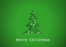 Green Christmas Greeting Stock Images