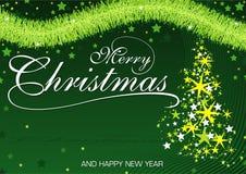 Green Christmas Greeting Royalty Free Stock Image