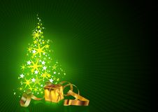 Green Christmas Greetings Card Stock Photography