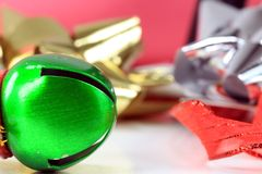 Green Christmas Jingle Bell Royalty Free Stock Photography