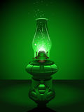 Green Christmas lantern Royalty Free Stock Image