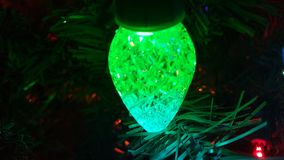 Green christmas lights Stock Images