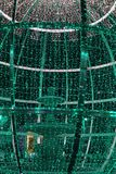 Green Christmas lights. Nice Christmas lights photo detail stock image