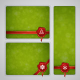 Green Christmas and New year banners Stock Photo