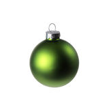 Green Christmas Ornament. Isolated on a White Background Stock Photos