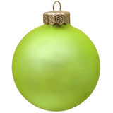 Green christmas ornament . Royalty Free Stock Photo