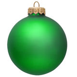 Green christmas ornament . Stock Images