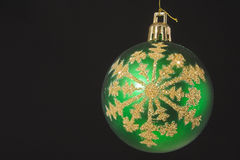 Green Christmas ornament Stock Photography