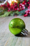 Green Christmas Ornament Background Royalty Free Stock Photography