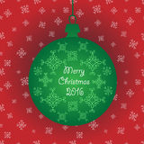 Green christmas ornament ball decorations with snowflakes . Vector in addition Royalty Free Stock Photo