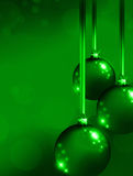 Green Christmas ornaments Stock Photo