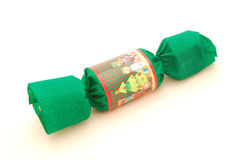 Green Christmas Party Cracker royalty free stock photo