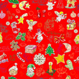 Green christmas pattern Stock Image