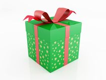 Green christmas present Stock Photos