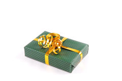 A green Christmas present Royalty Free Stock Image