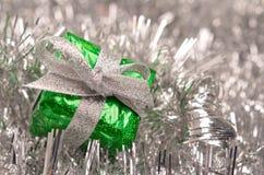 Green Christmas present Stock Photography