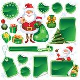 Green Christmas sale vector illustration
