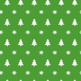 Green Christmas seamless pattern with small snowflakes, snow and Christmas trees. Green Christmas seamless pattern with small snowflakes, snow, Christmas trees Royalty Free Stock Photos