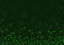 Green Christmas Snowflakes Background Royalty Free Stock Photo