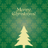 Green Christmas snowflakes card Royalty Free Stock Photo