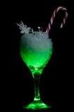Green Christmas Spirit Stock Photo