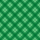 Green Christmas Tartan Vintage Background. Vector Illustration Royalty Free Stock Photo