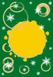 Green christmas theme Stock Image