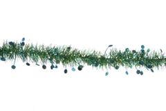 Green christmas tinsel border Stock Photo