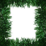 Green christmas tinsel garland decoration Royalty Free Stock Photography
