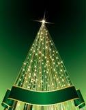 Green Christmas tree. Vector abstract green Christmas tree Stock Photo