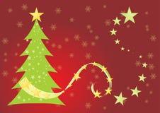 Green christmas tree Stock Photography