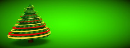 Green christmas tree abstract modern 3d rendering  background Stock Photo